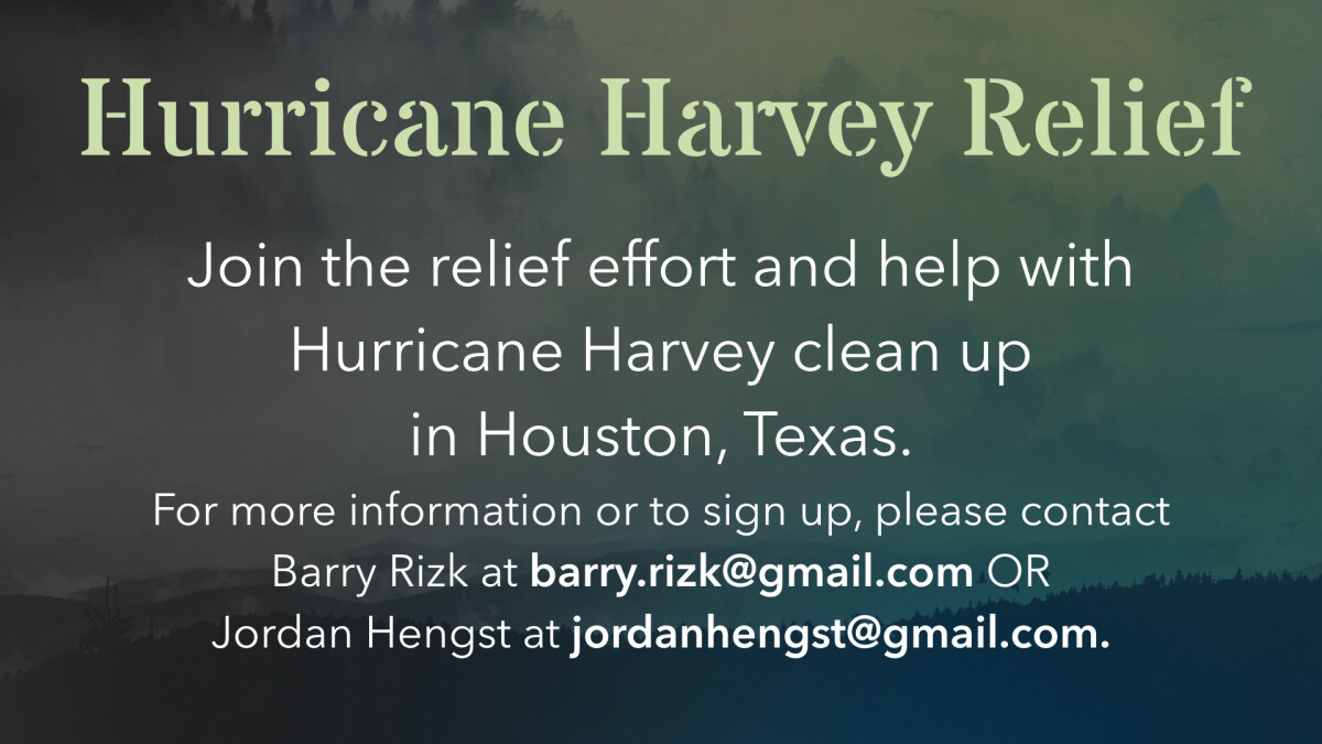 OUTREACH OPPORTUNITY: Hurricane Harvey Relief