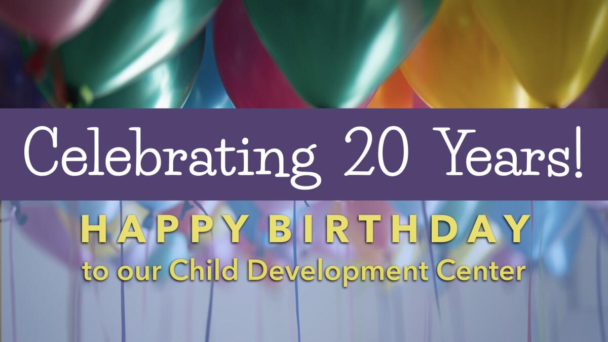 Child Development Center Birthday Celebration