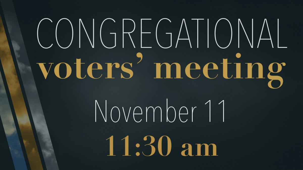 Congregational Voters' Meeting