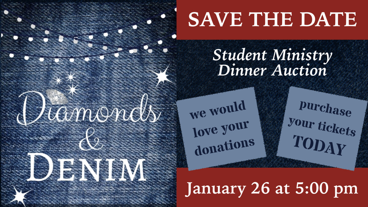 Diamonds & Denim: 2019 Student Ministry Dinner Auction