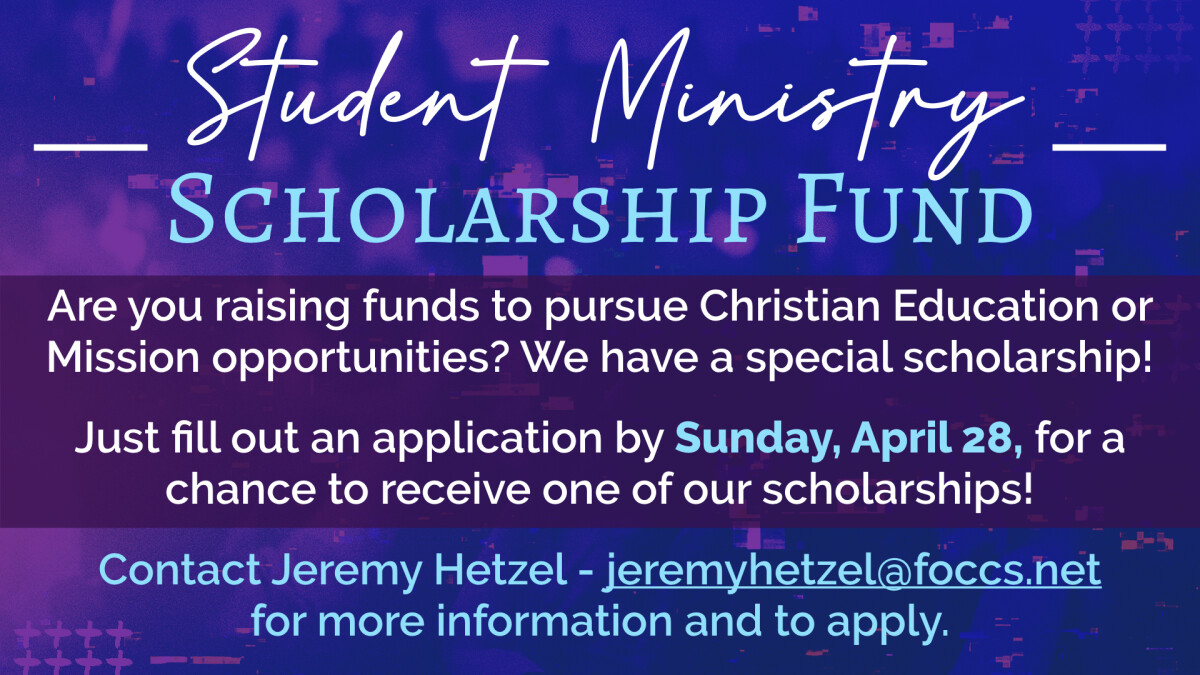 Student Ministry Scholarship - Apply Today