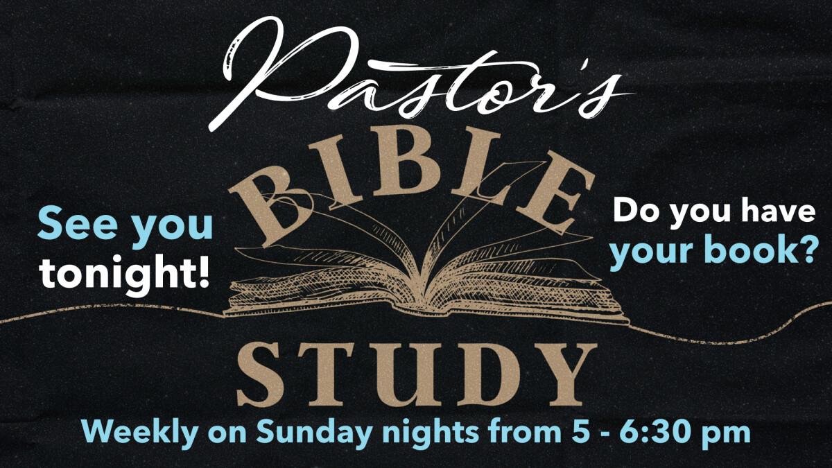 Pastor's Bible Study