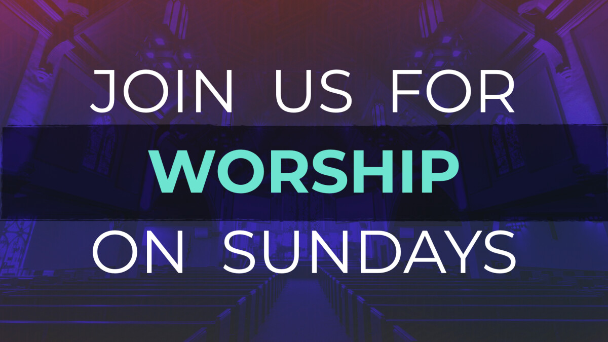 Join us for worship on Sunday mornings at 8:00 & 10:15 AM MDT