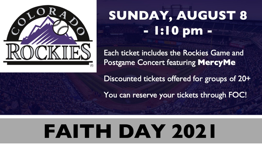 Colorado Rockies Faith Day 2021 featuring MercyMe // August 8