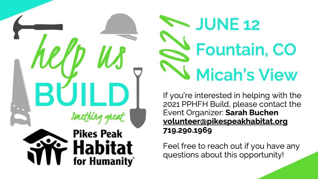 Pikes Peak Habitat for Humanity Build // June 12